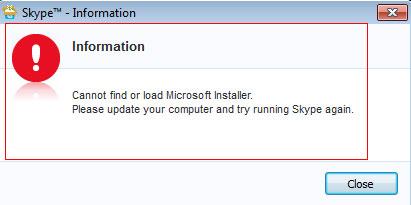 Khắc Phục Lỗi Không Cài Được Skype mới 7.30...