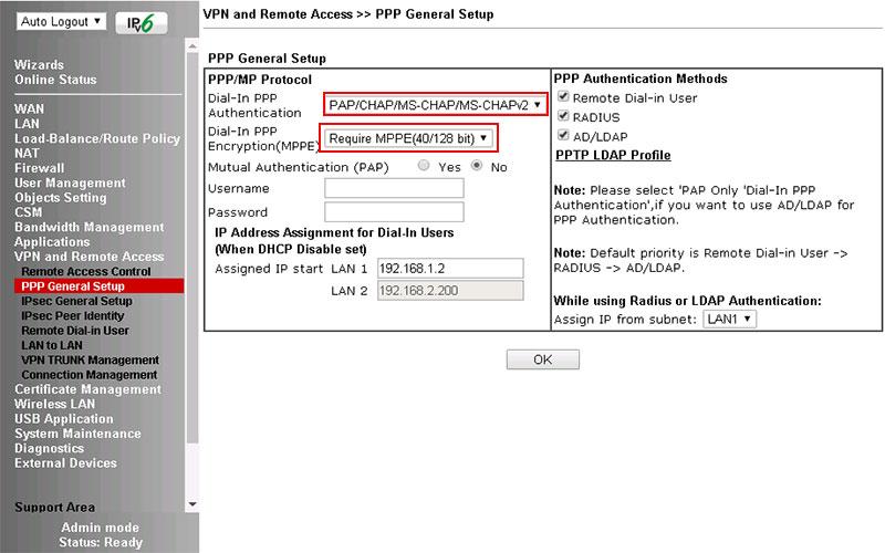 hướng dẫn cấu hình vpn tren modem draytek vigor 2912