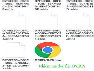 Loại Virus mới Osiris file bị biến dạng đuôi.OSIRIS (Ransomware Locky)