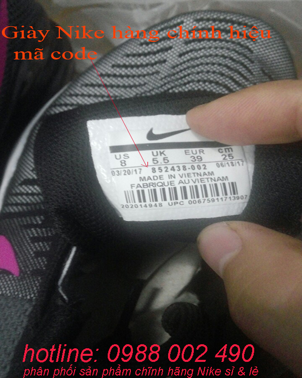 hướng dẫn phân biệt giày Nike giả