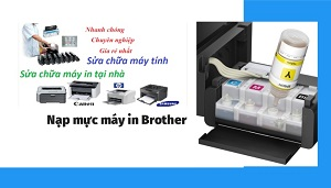 Cách thay mực máy in brother