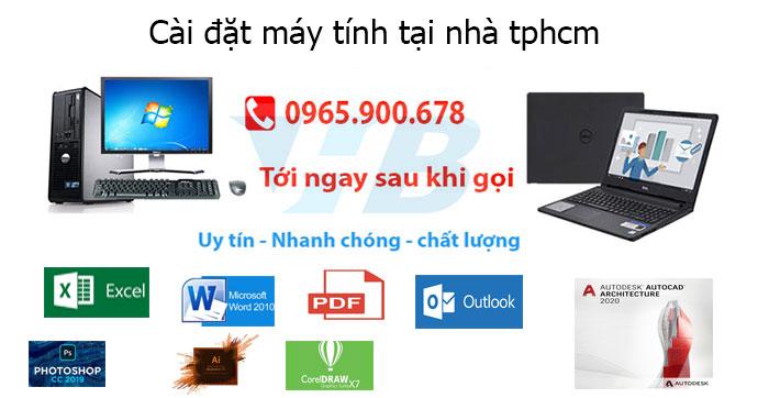 Cài đặt máy tính tại nhà tphcm