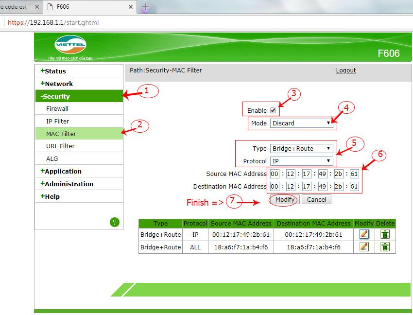 Hướng dẫn chặn IP trên Modem Viettel chống sài chộm wifi