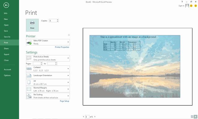 Hướng dẫn đặt ảnh làm hình nền trong Excel