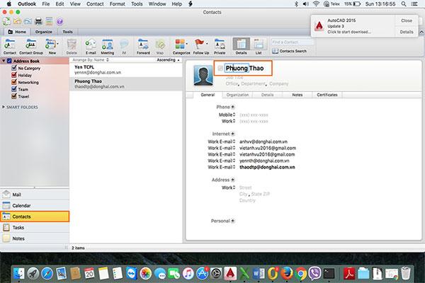 Hướng Dẫn Sửa Lỗi Tên Người Dùng  Email Outlook trên Macbook