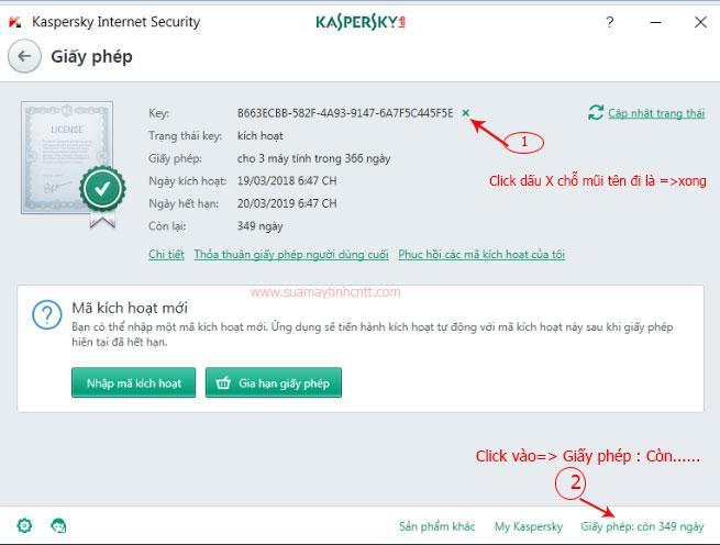 Hướng dẫn xóa key kasperskey chuyển qua máy tính khác cài