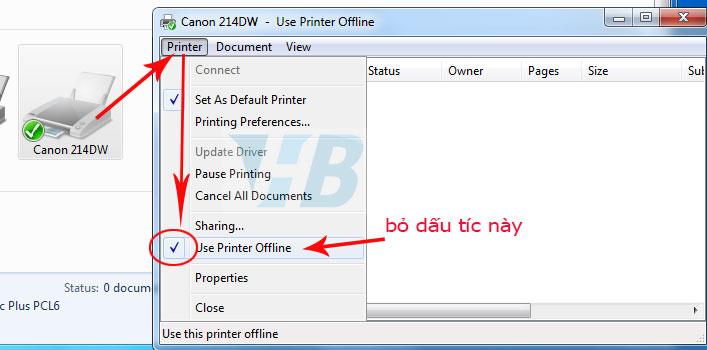 Sửa Lỗi Máy In HP Báo lỗi offine (Máy in hp báo offline không in được)