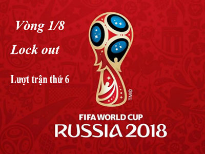 Trận thứ 6 Vòng 1/8 WorldCup 2018 đã kết thúc với Kết  Quả xuất sắc