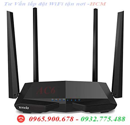 Modem WiFi Tenda AC6 AC 1200 Băng tần kép 2.4GHz và 5.0Ghz