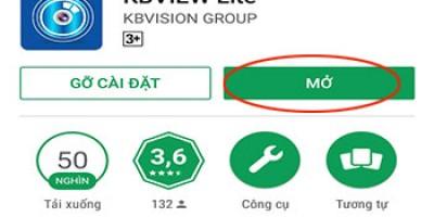Hướng dẫn tải  phần mềm xem camera đầu ghi KBVISION trên điện thoại Adroid /IOS