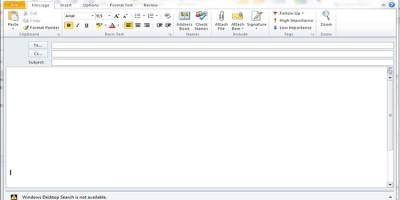 outlook không thấy nut Send khi Viết Email 2007/2010/2013