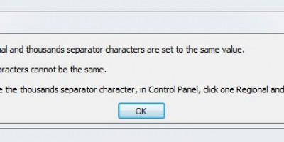 Sửa lỗi thông báo khi mở Microsoft project  the decimal and thounsads....